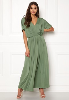 Y.A.S Freya SS Ancle Dress Hedge Green Bubbleroom.fi