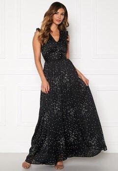 Y.A.S Greta Maxi Dress Black, AOP Bubbleroom.fi