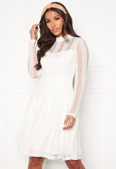 Y.A.S Helena LS Dress Star White Bubbleroom.fi