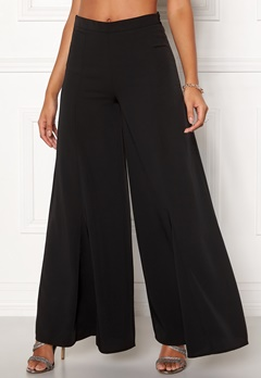 Y.A.S Hinta Flared Pant Black Bubbleroom.fi