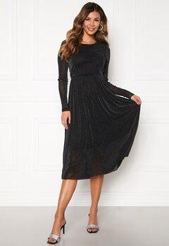 Y.A.S Jessa LS Lurex Midi Dress Black Bubbleroom.fi