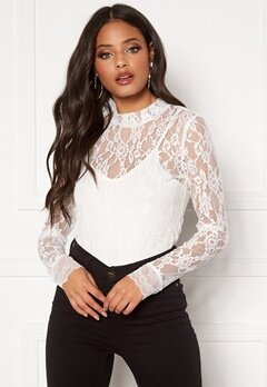 Y.A.S Lacy LS Top Star White Bubbleroom.fi