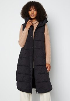 Y.A.S Lira Padded Vest Black bubbleroom.fi