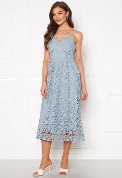 Y.A.S Luie Strap Midi Dress Dusty Blue Bubbleroom.fi