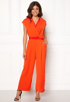 Y.A.S Mamba S/S Jumpsuit Orange.com Bubbleroom.fi