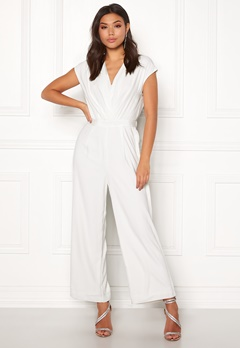 Y.A.S Mamba S/S Jumpsuit Star White Bubbleroom.fi