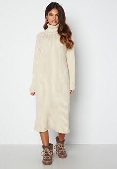 Y.A.S Mavi LS Knit Dress Eggnog Bubbleroom.fi