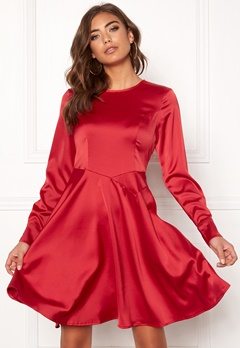 Y.A.S Meo LS Dress Haute Red Bubbleroom.fi