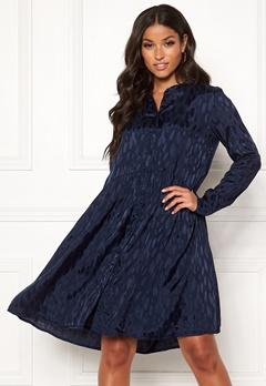 Y.A.S Merta LS Shirt Dress Navy Blazer Bubbleroom.fi