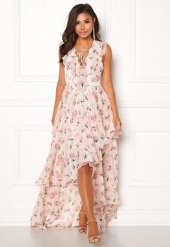 Y.A.S Most S/L Maxi Dress Star White Bubbleroom.fi