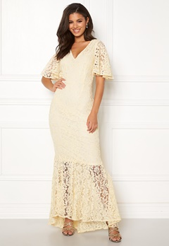 Y.A.S Radic Lace Maxi Dress Antique White Bubbleroom.fi