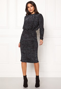 Y.A.S Yenna Lurex L/S Dress Black Bubbleroom.fi