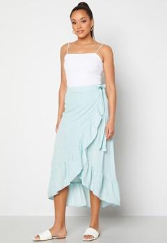 Y.A.S Yvonne HW Long Wrap Skirt Star White Yvonne Pr Bubbleroom.fi