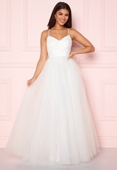 Y.A.S Zetia Strap Maxi Dress Star White Bubbleroom.fi