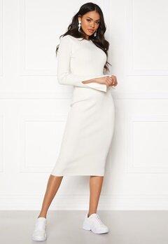 Y.A.S Zippy Knit Dress Star White Bubbleroom.fi