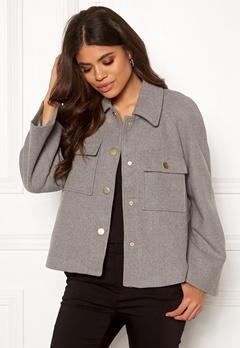Y.A.S Zoe Wool Jacket Light Grey Melange Bubbleroom.fi