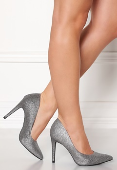 New Look Yummy Glitter Heel Silver Bubbleroom.fi