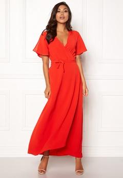 ICHI Zarun Dress 16254 Aurora Red Bubbleroom.fi
