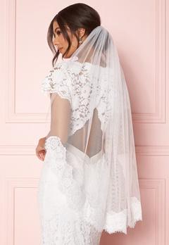 Zetterberg Couture Nour Veil Short 90 cm Ivory Bubbleroom.fi