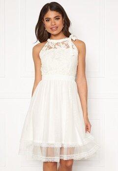 VILA Zinna New S/L Dress Snow White Bubbleroom.fi