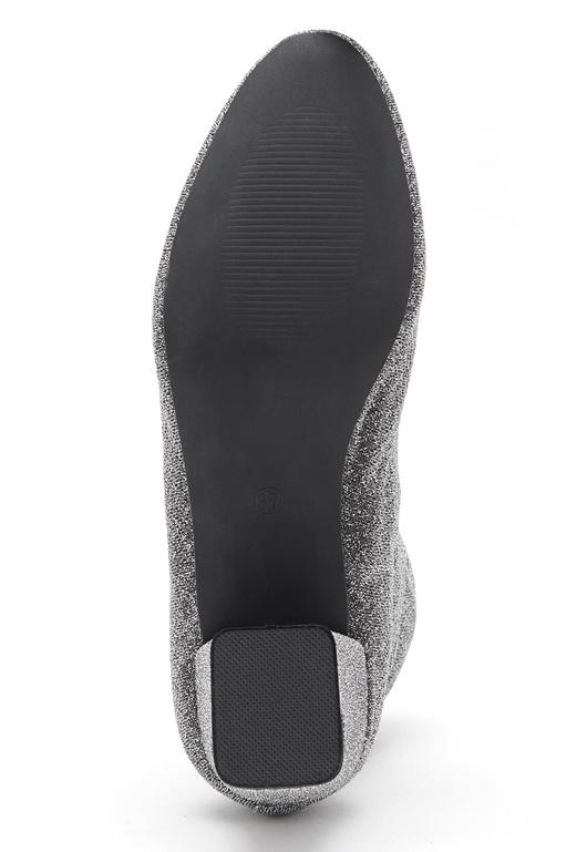 Pieces Donna Glitter Boot Silver Colour - Bubbleroom d2078218eb