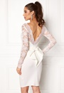 Bardot Midi Dress Bow