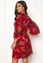 Floral Tie Mini Dress