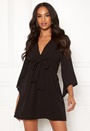 Tie Waist Deep V Dress