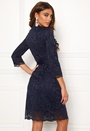 Carolina Gynning lace wrap dress