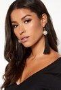 Tassle pearl earrings