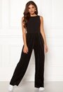 Pleated pants jumpsuit