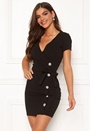 Alessia sparkling buttoned wrap dress