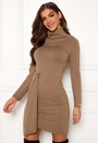 Donetta knitted polo collar dress