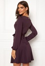 Sonnet puff sleeve wrap dress