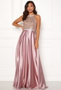 Rhinestone Satin Dress