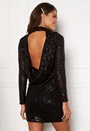 Drape Sequin Mini Dress
