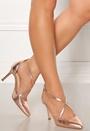 Glitzy Leather Heels