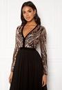 Deep V Sequin Maxi Dress