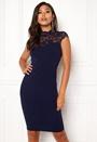 Open Lace Midi Lace Dress