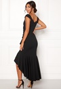Wrap Front Frill Dress