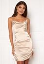 Satin waterfall dress