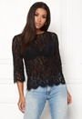 Lace Zip Back Sleeve Tee