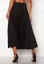 Plain Pleated Midi Skirt