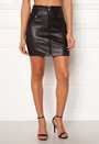 Violet Faux Leather Skirt