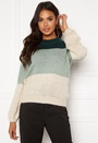 Wine Block ls O-neck Knit
