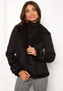 Black Faux Sherling Jkt