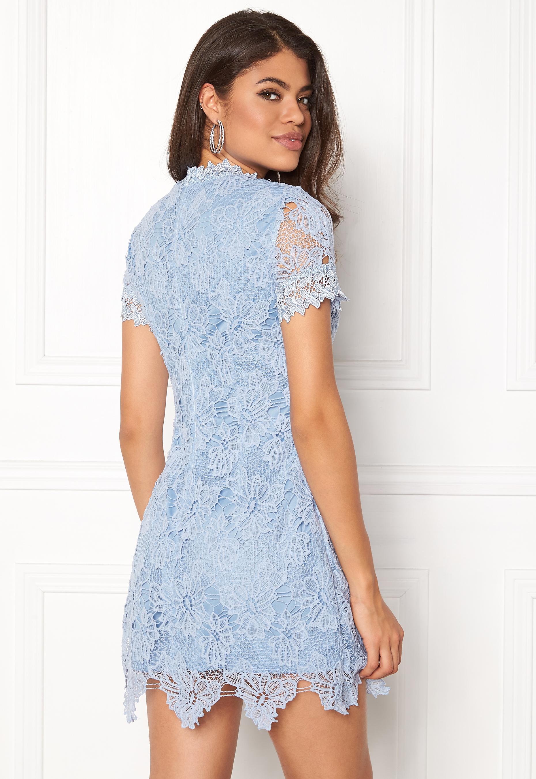 Neck High Bubbleroom Dress Paris Lace Light Ax Blue CBexord