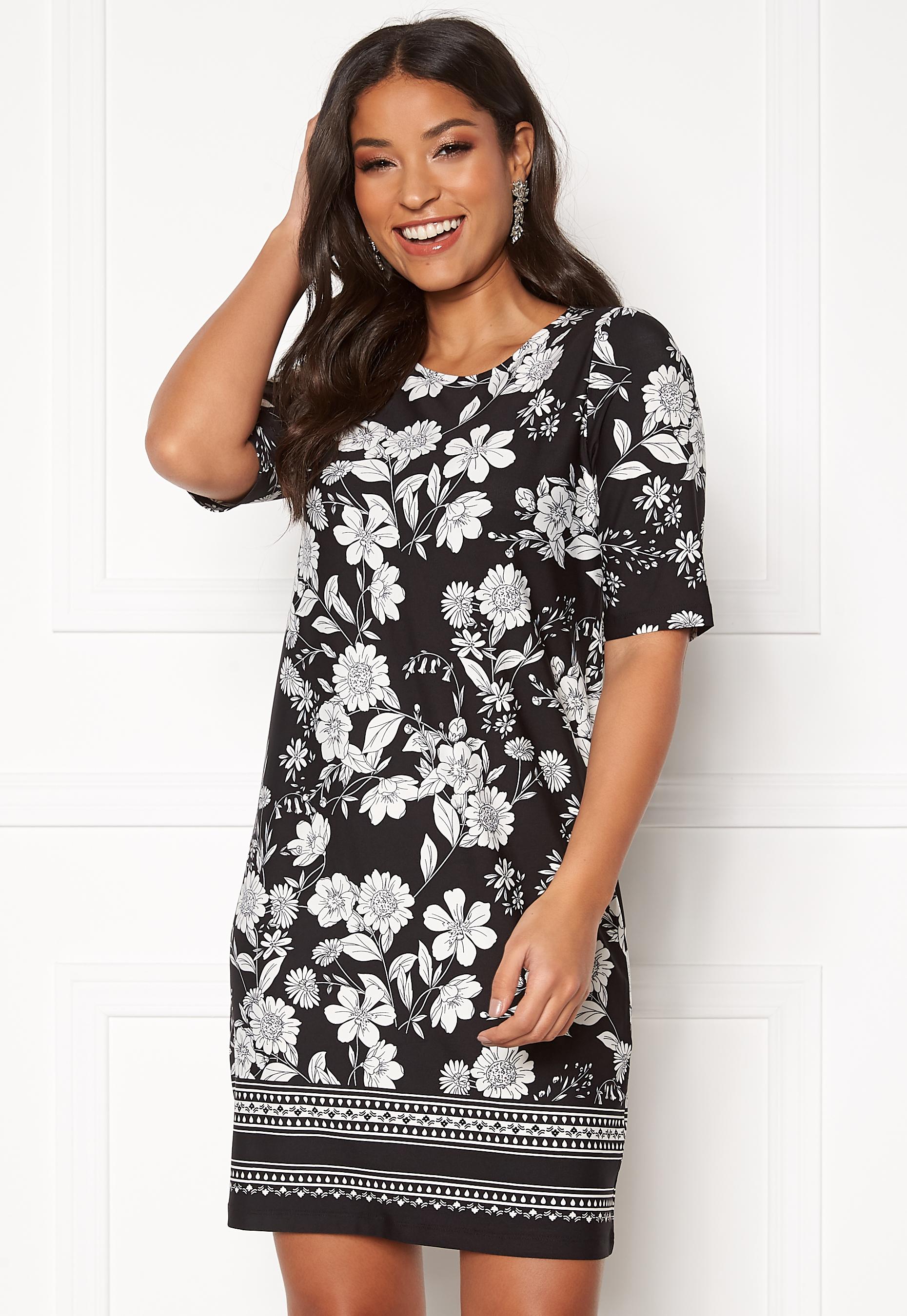 Happy Holly Blenda dress Black Patterned Bubbleroom
