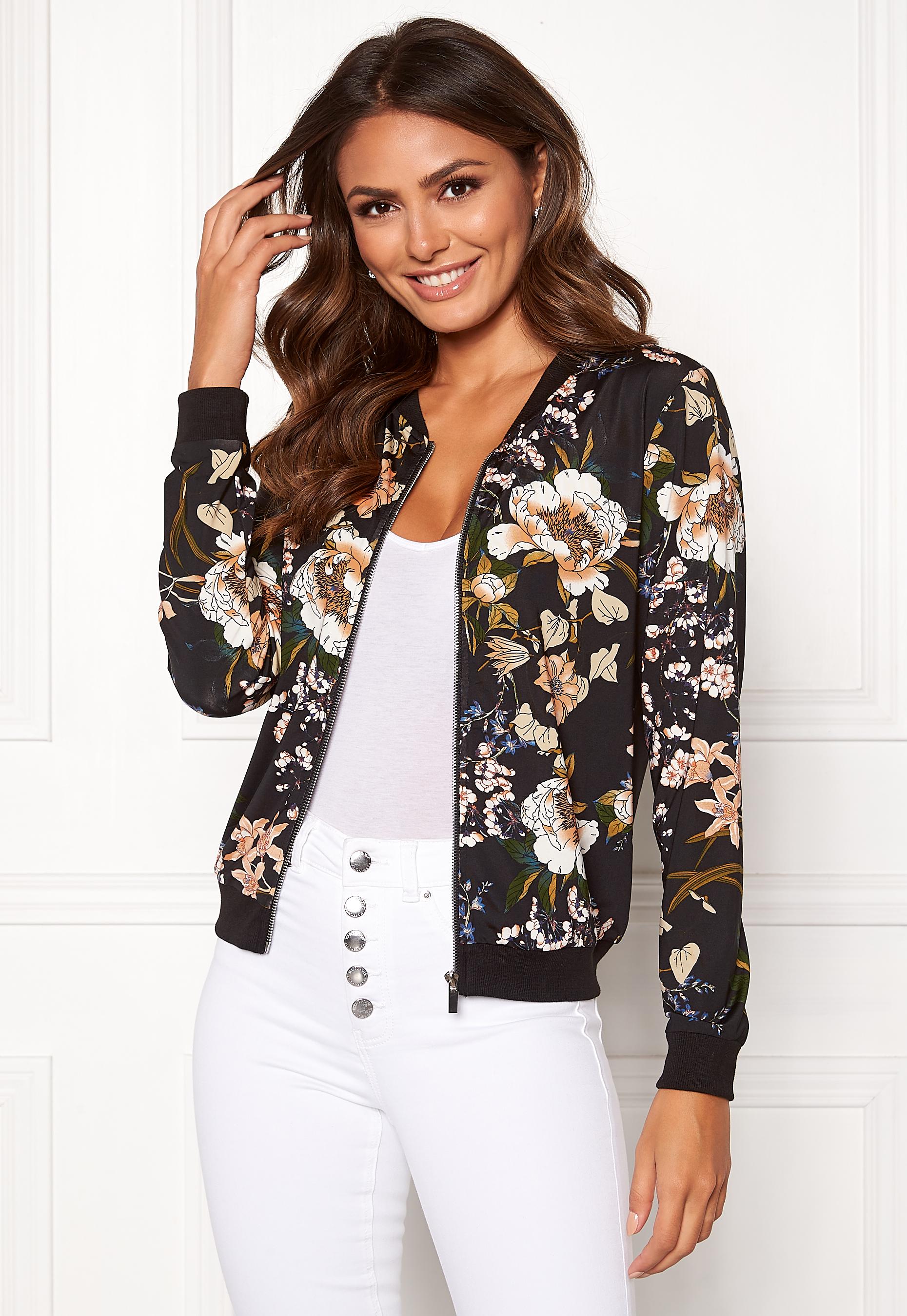 Happy Holly Hanna bomber jacket Black Patterned Bubbleroom