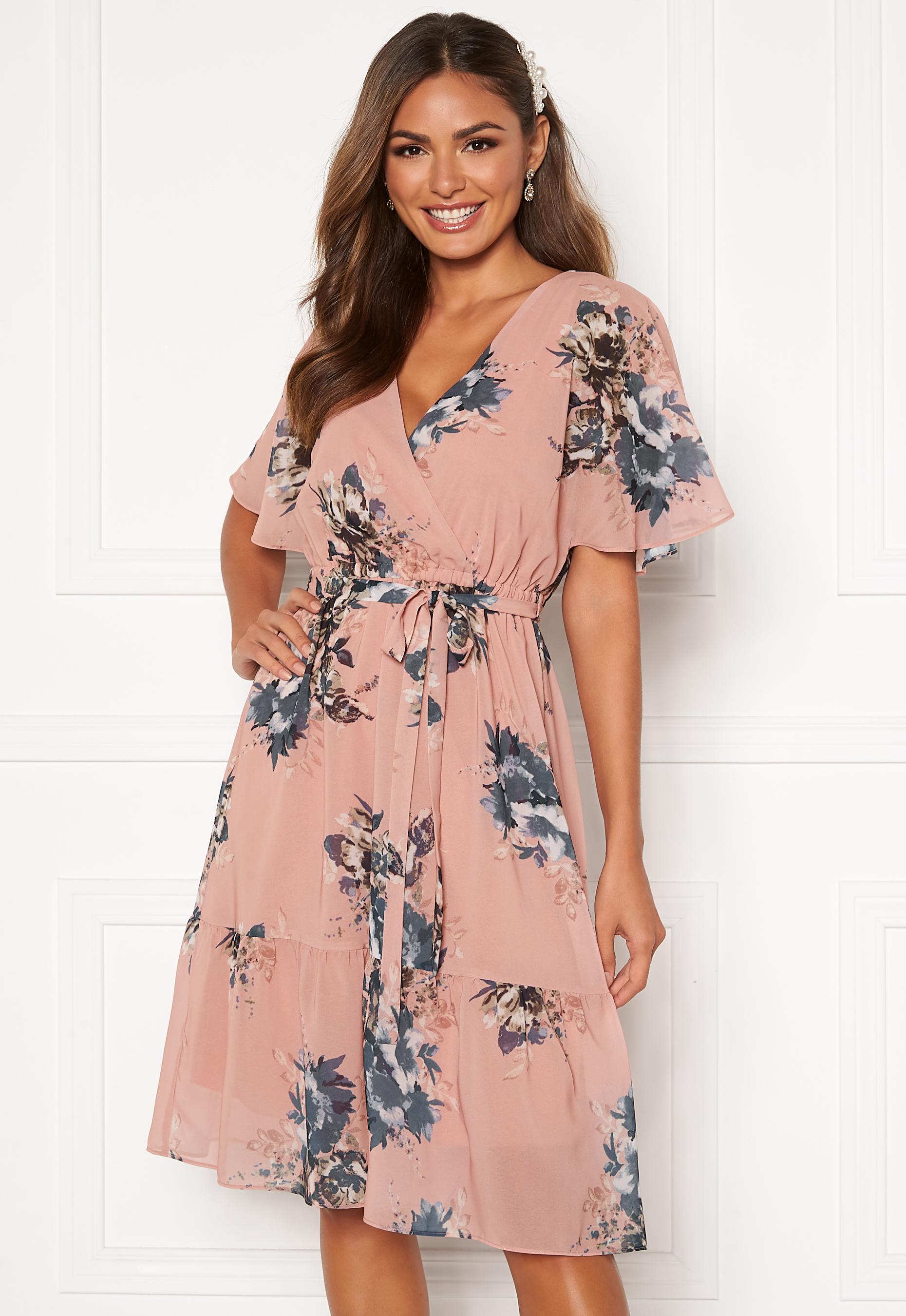 Happy Holly Linnea midi dress Dusty pink Patterned